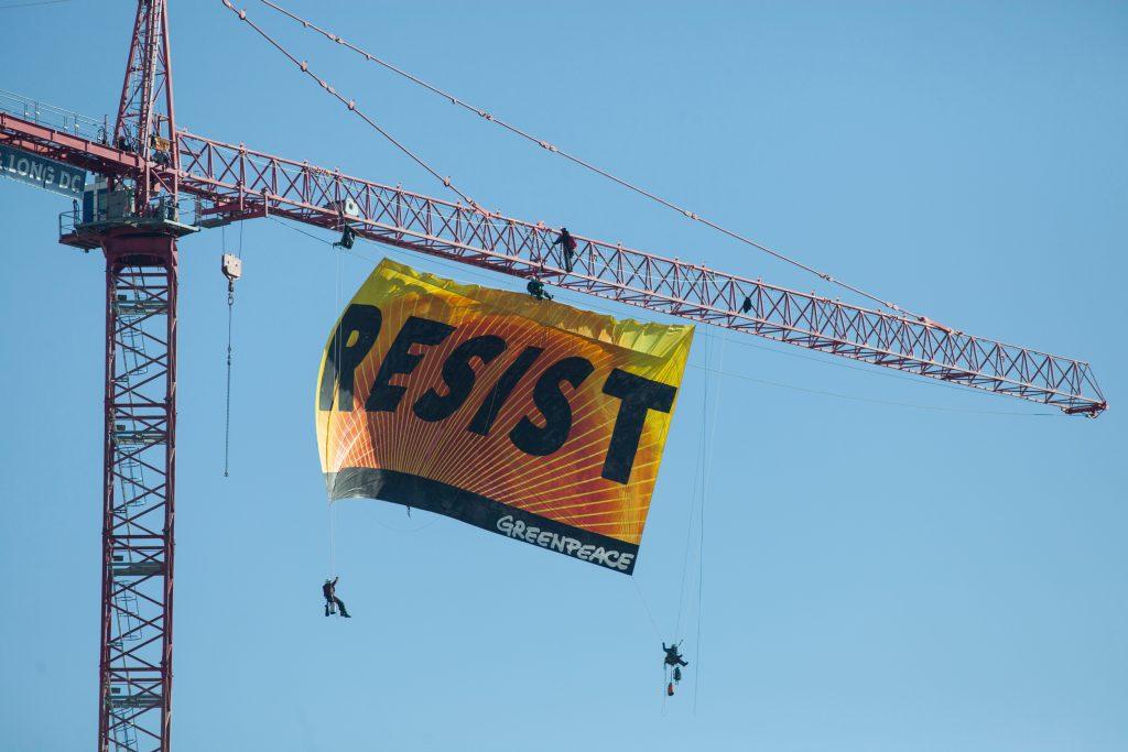 Resist, Trump, Greenpeace, White House, Amerika, US, President