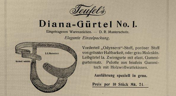 Der Diana-Gürtel - bequem sieht der nicht aus.